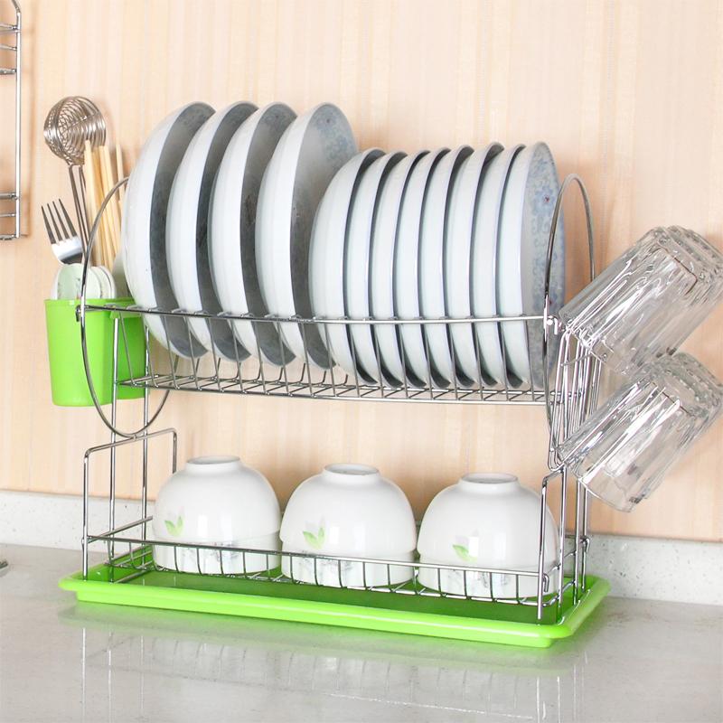 伟经双层碗碟架