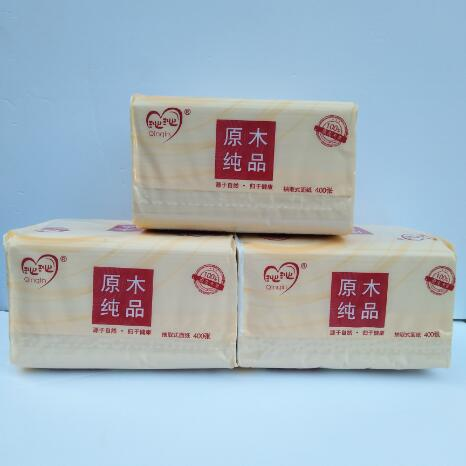 三包抽纸(400张/每包) 原木纯平  开启新健康生活