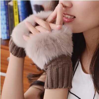 时尚兔毛保暖手套,这个冬天不再冷,暖洋洋
